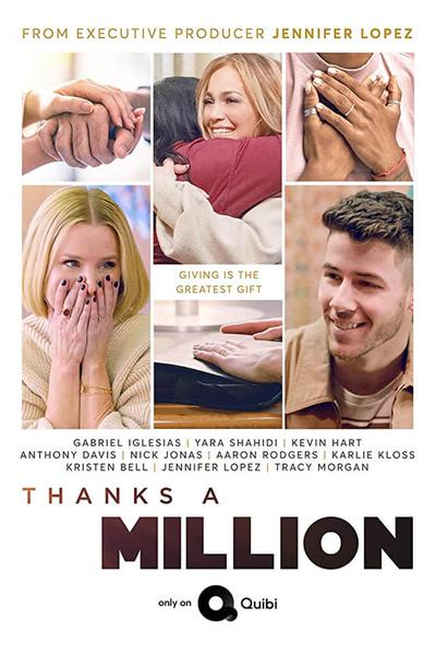 TV ratings for Thanks A Million in Brazil. Quibi TV series