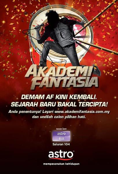 TV ratings for Akademi Fantasia in France. Astro Ria TV series